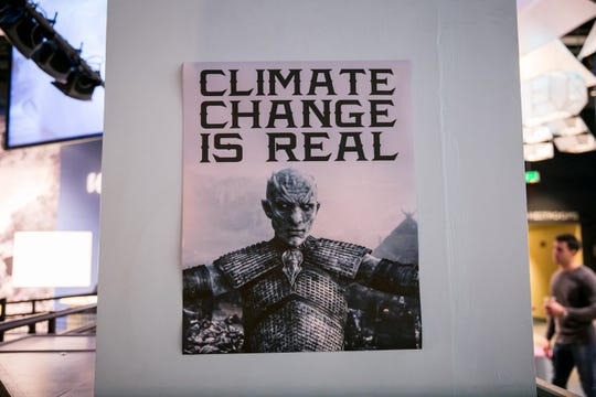 The Night King warned of the dangers of climate change during Science With A Twist's Game of Thrones party at the Arizona Science Center on Friday, November 16, 2018.