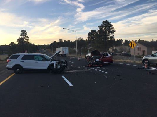 DPS trooper collides with wrong-way driver