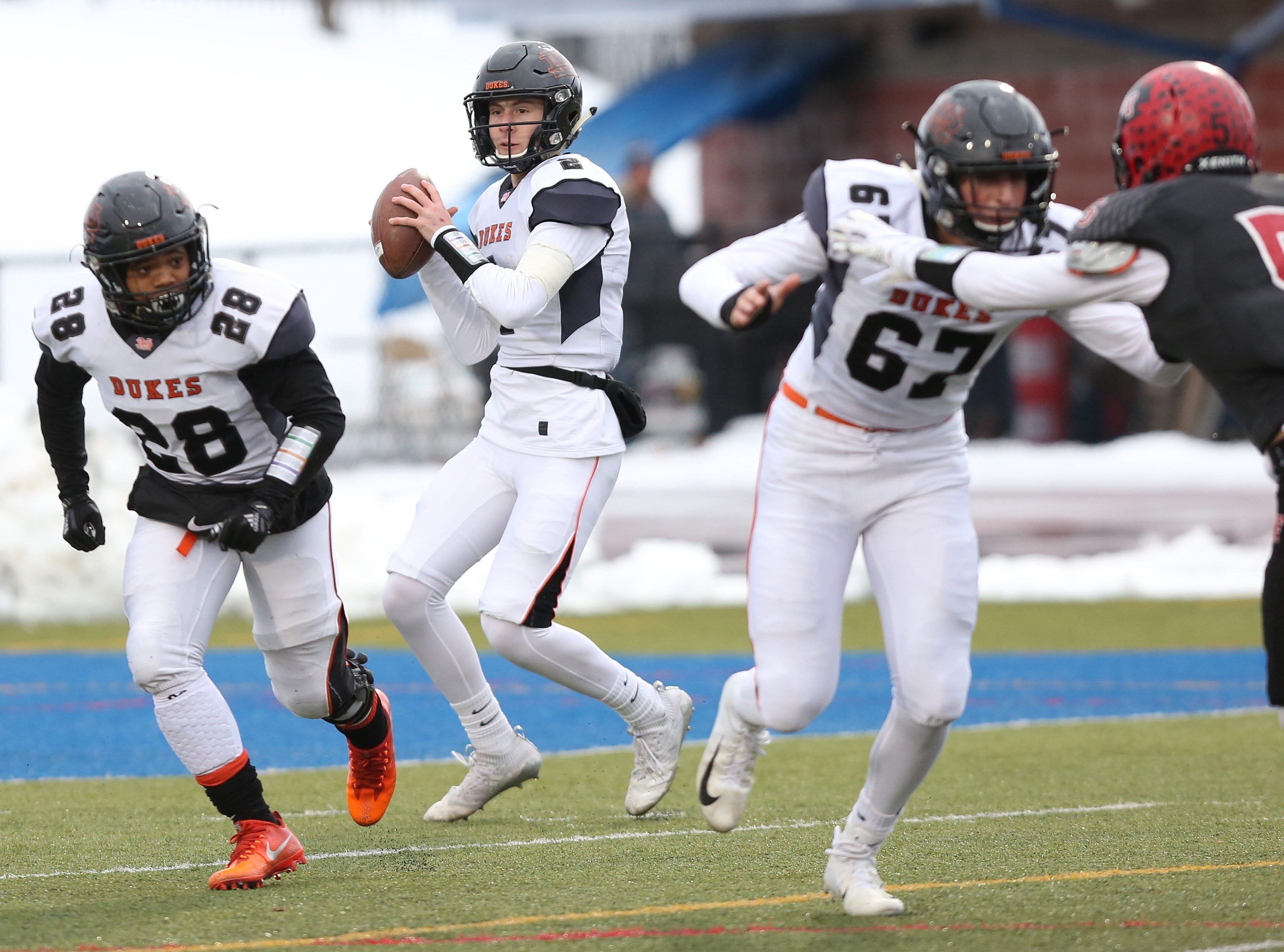 Glens Falls defeated Marlboro 48-28 in the state football Class B semifinal game at Middletown High School Nov. 17, 2018.