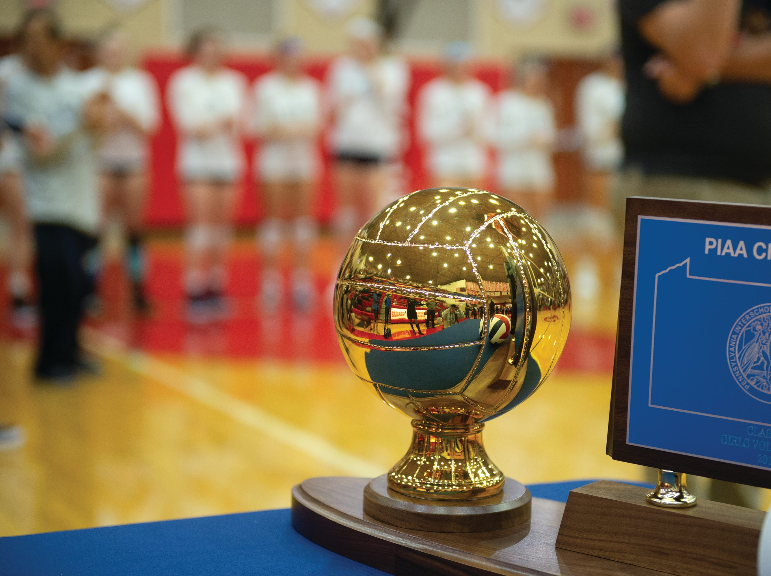 This is what West York and Warren played for on Saturday at Cumberland Valley High School.