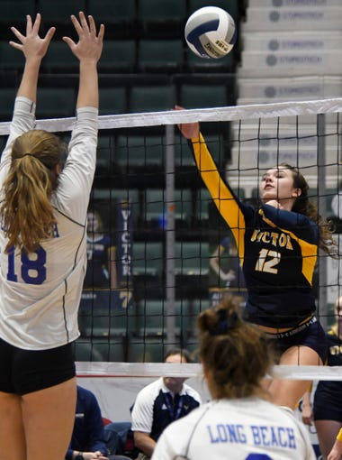 girls volleyball victor loses to long beach in state class aa final