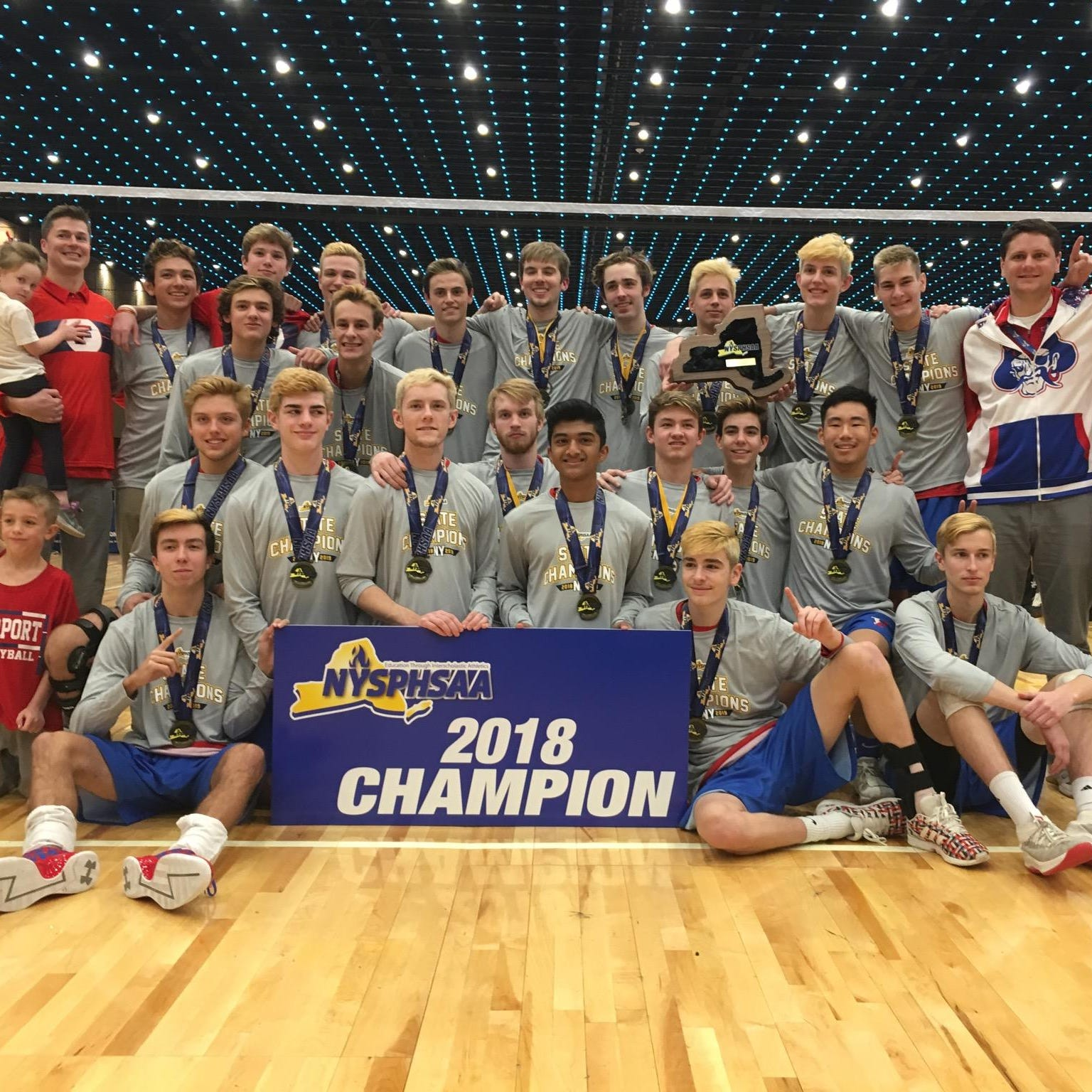Fairport boys volleyball caps undefeated season with first state title since 2013