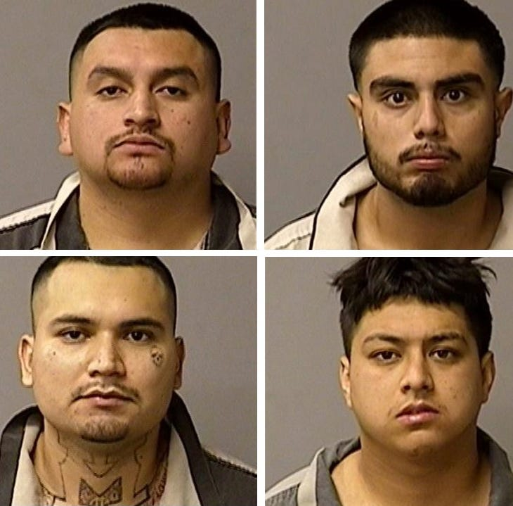 Six Monterey County men arrested in connection with preparing to rob a Modesto bank