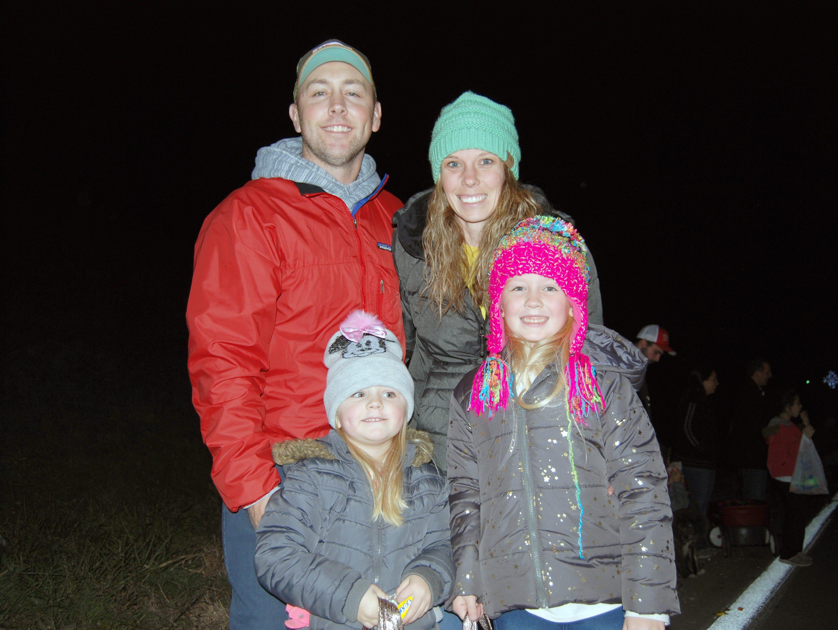 Chris, Raegan, Bailee and Carrie Wells