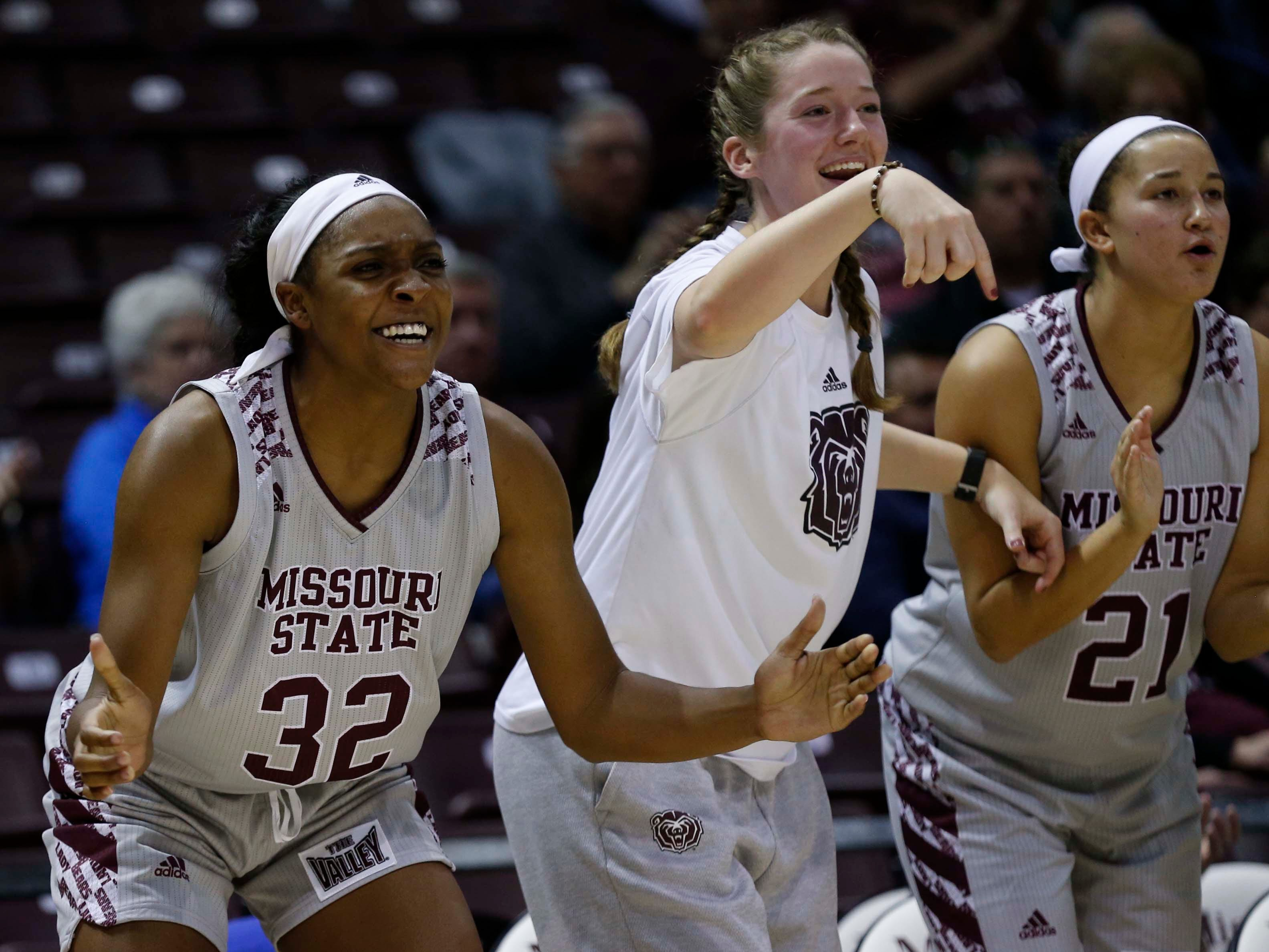 The Missouri State Lady Bears against Ball State University at JQH Arena in Springfield on November 17, 2018.