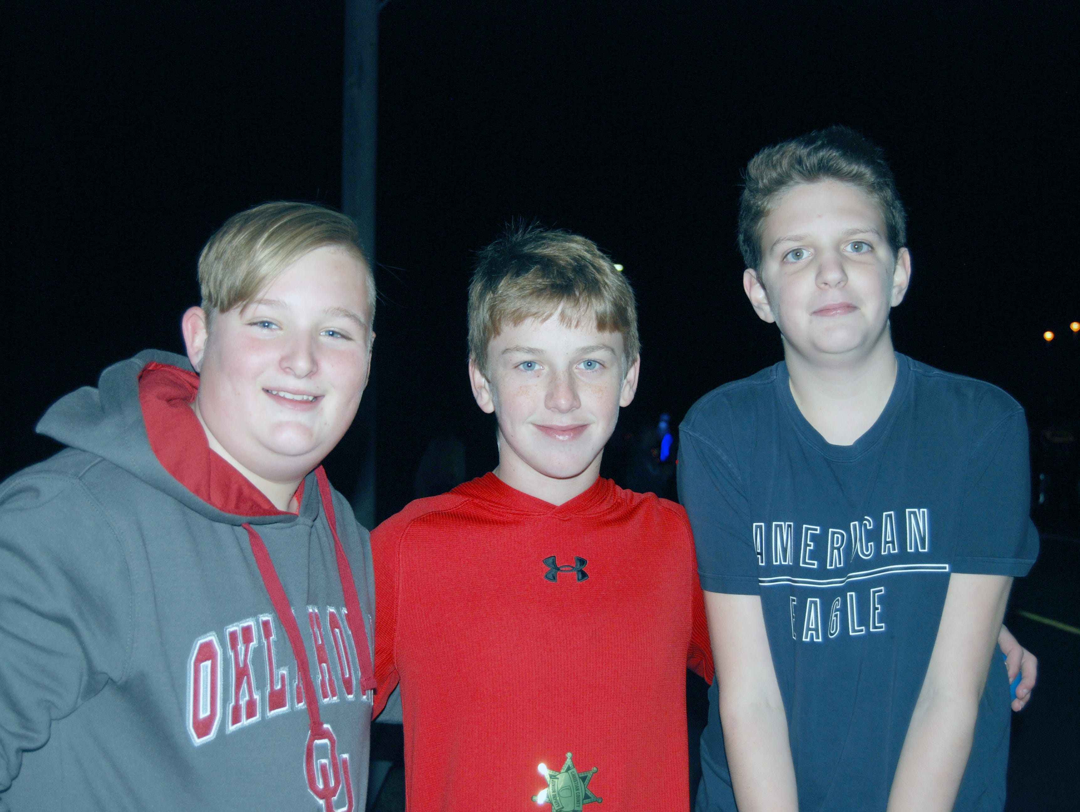 Brady Burchard, Tanner Rakers and Jackson McCurdy