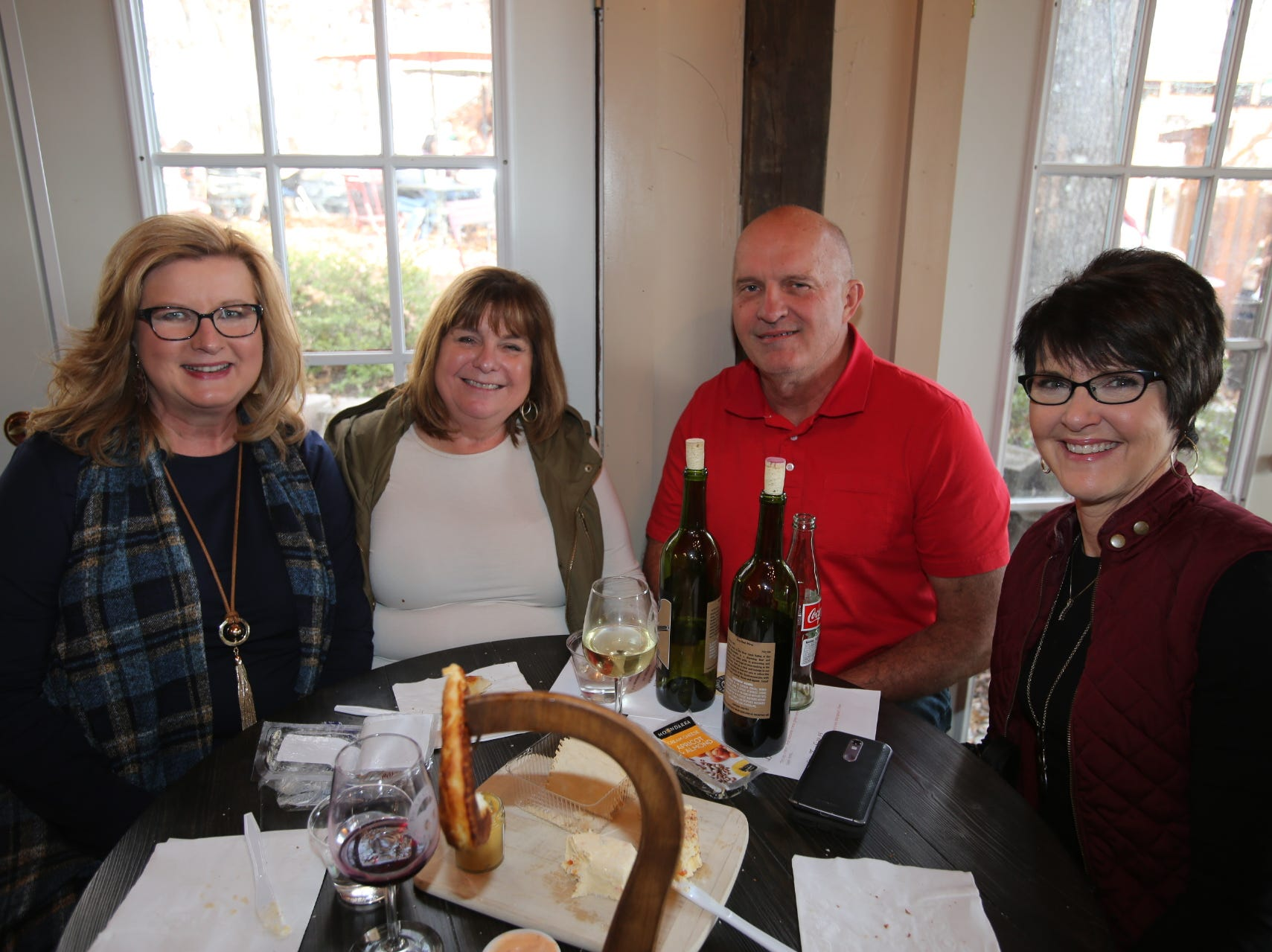 Donna Jensen, Shelia and Dennis Hoffman and Marcia Russell