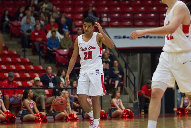 Dixie State junior guard Andre Wilson, seen in a file photo, was the catalyst for the late push against Westminster on Dec. 1, 2018.