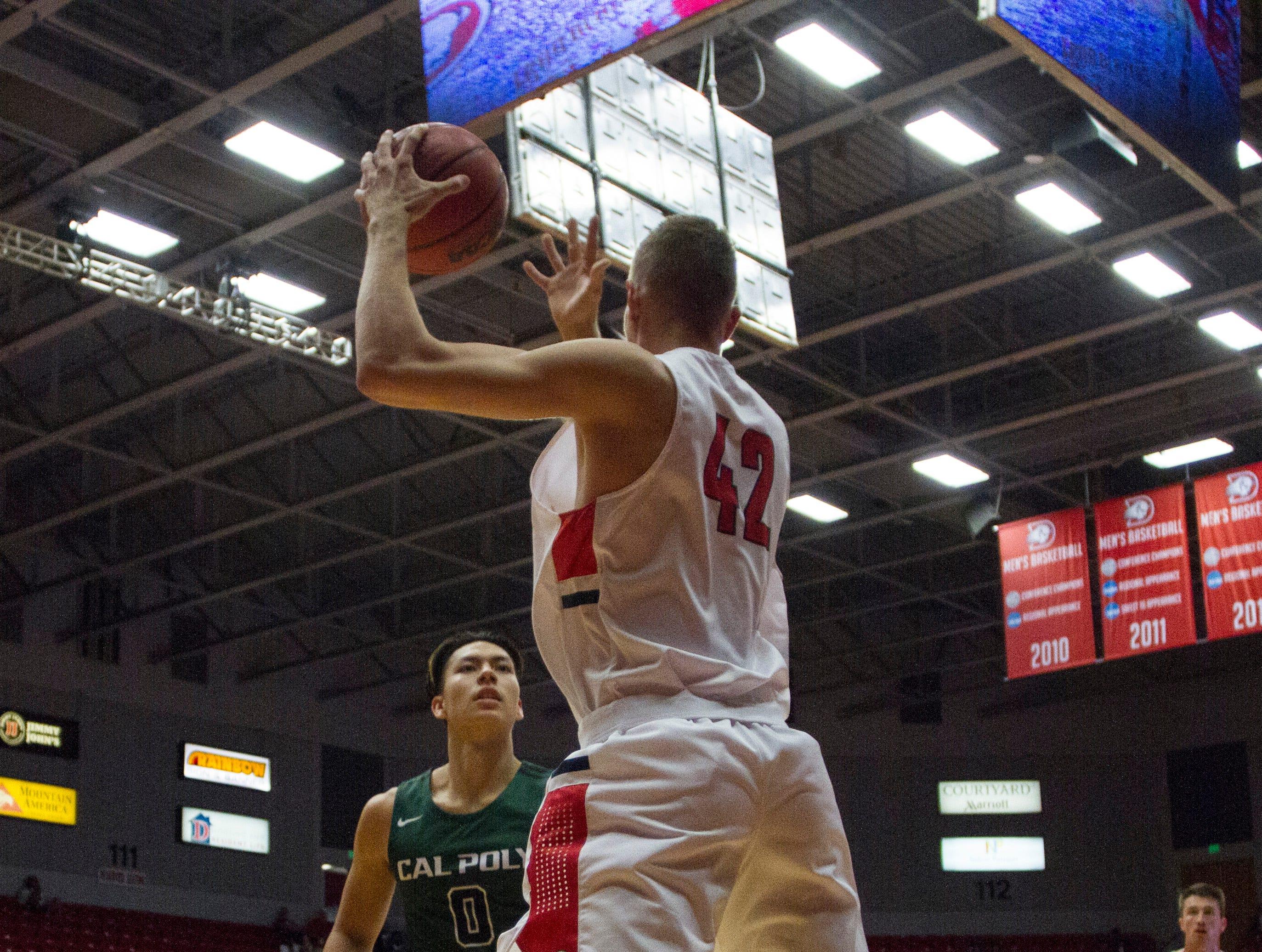 Cal Poly Pomona defeats Dixie State basketball 72-66 Saturday, Nov. 17, 2018.