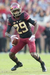 Florida State Seminoles wide receiver D.J. Matthews (29) looks for his next move as the Florida State Seminoles face off against the Boston College Eagles at Doak S. Campbell Stadium, Saturday, Nov. 17, 2018.