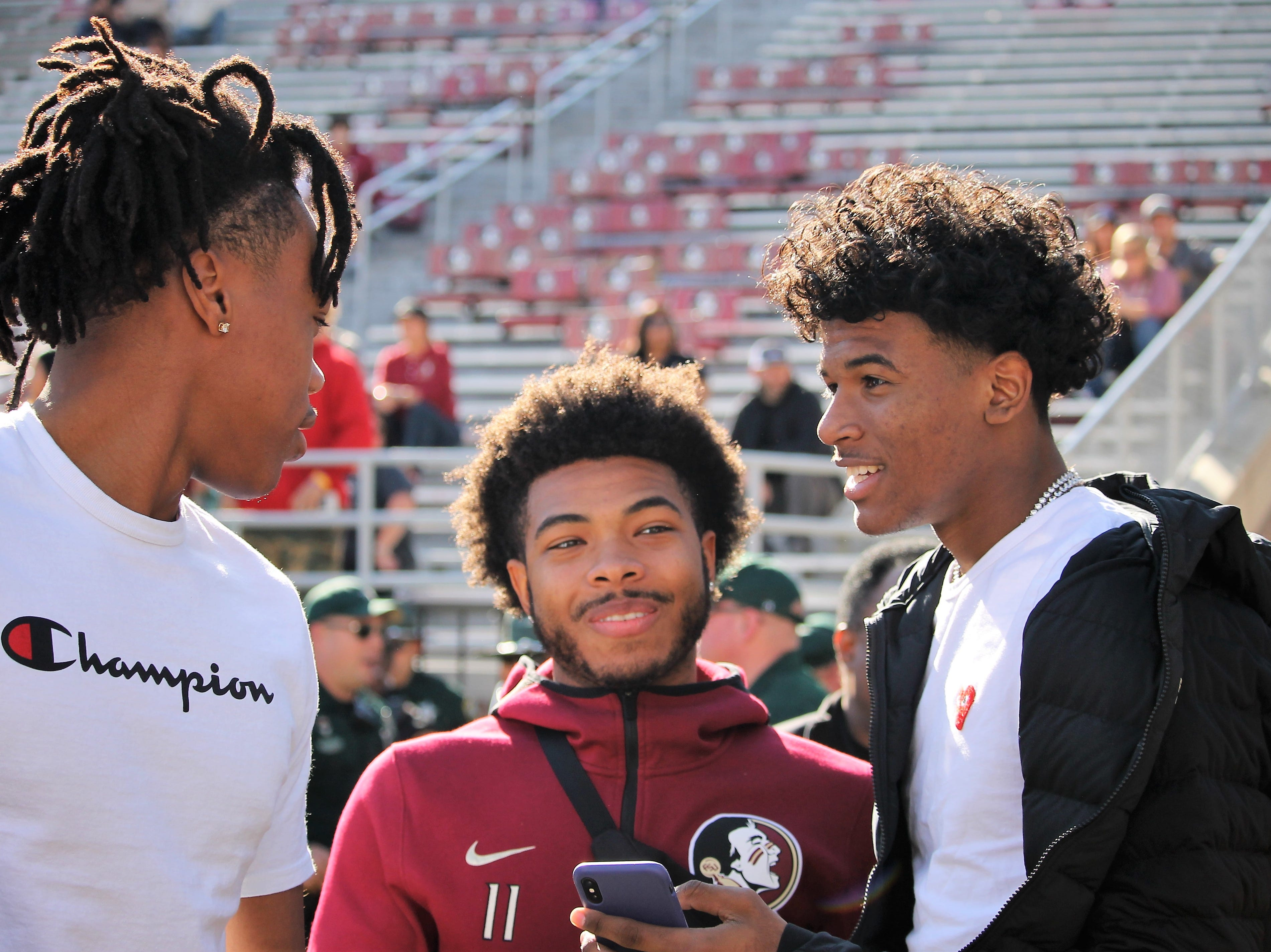 2020 five-stars Scottie Barnes and Jalen Green on visits to FSU for the BC game