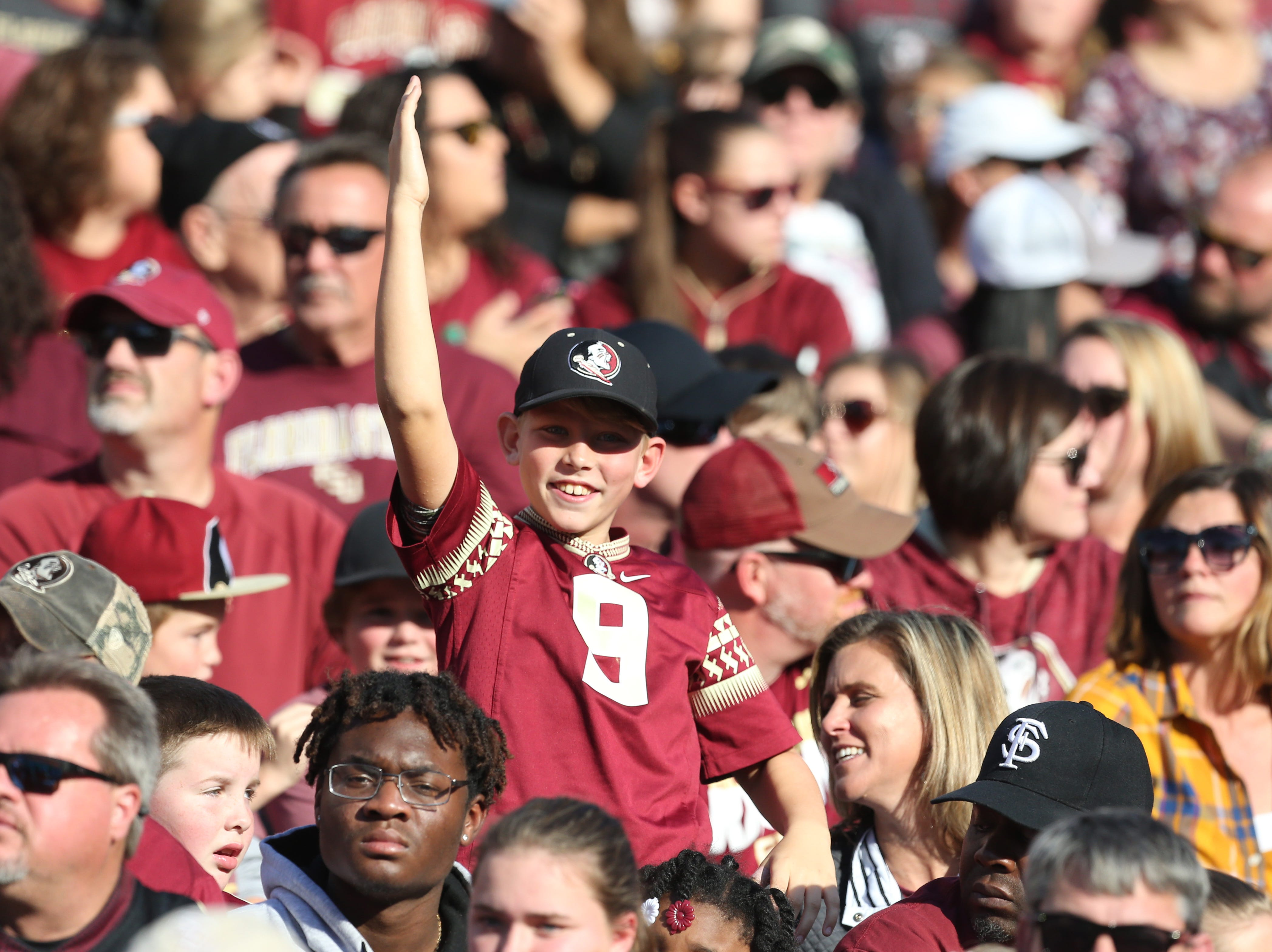 Fans cheer on the Seminoles as the Florida State Seminoles face off against the Boston College Eagles at Doak S. Campbell Stadium, Saturday, Nov. 17, 2018.