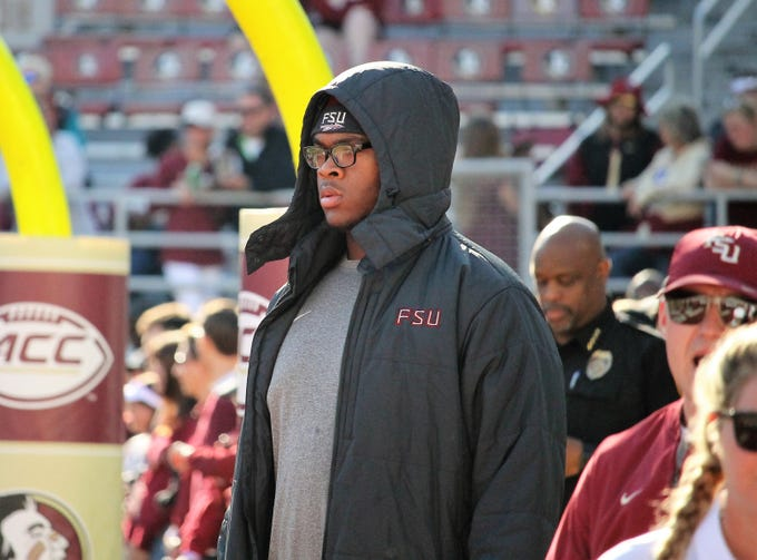 2019 five-star OT Evan Neal on an official visit to FSU for the BC game