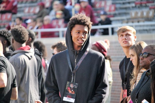 2020 three-star CB Jahquez Robinson on a visit to FSU for the BC game