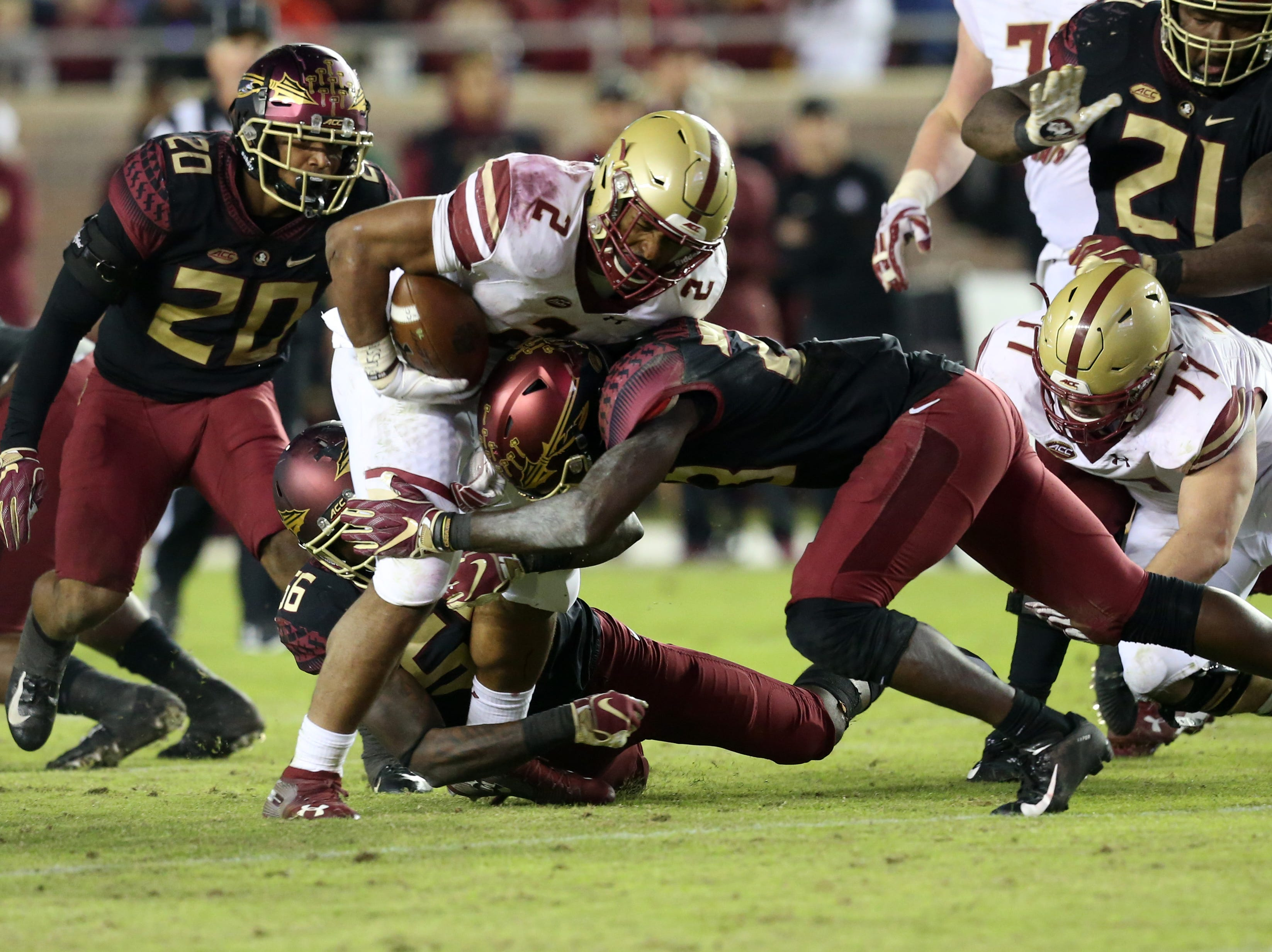 The Florida State Seminoles face off against the Boston College Eagles at Doak S. Campbell Stadium, Saturday, Nov. 17, 2018.