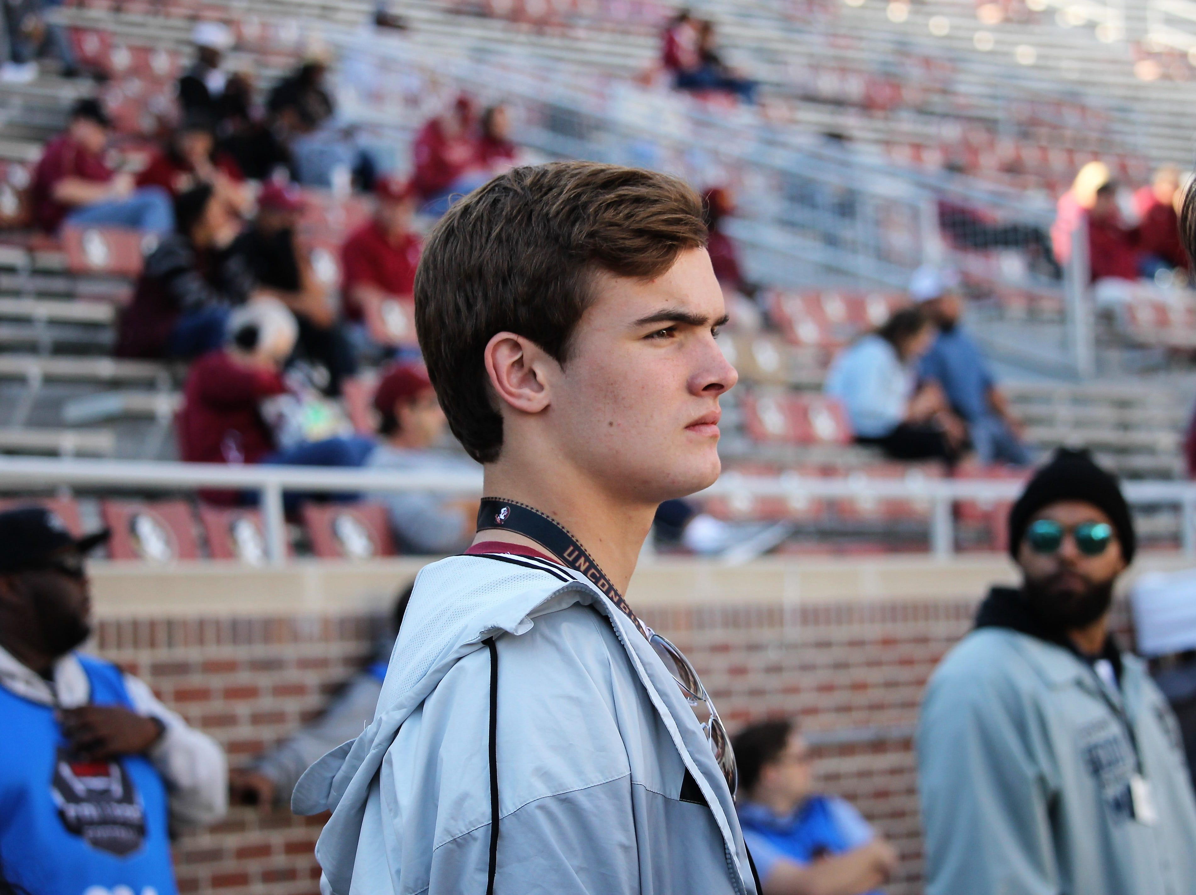 2021 WR Christian Burkhalter on a visit to FSU for the BC game