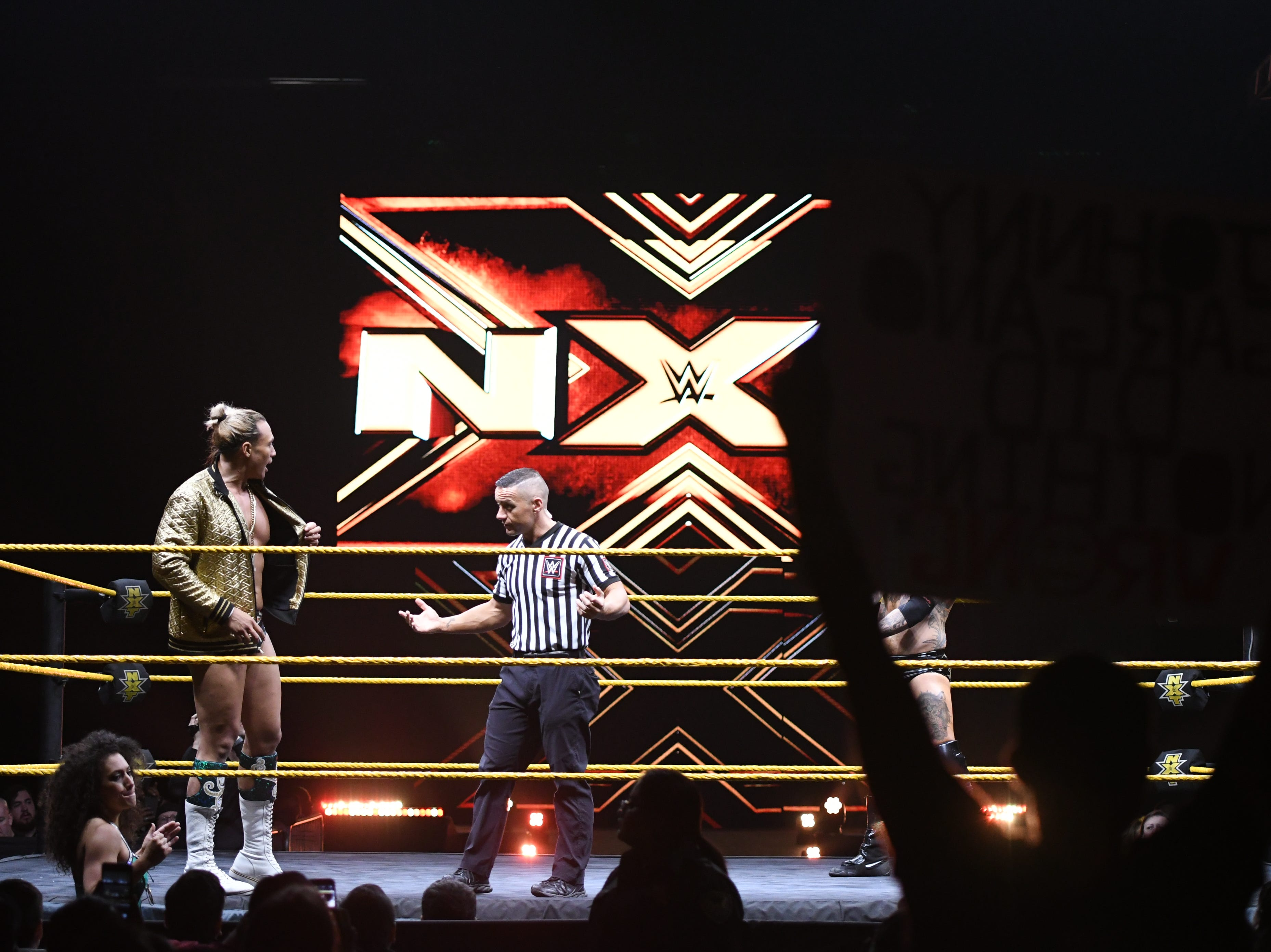 On Friday WWE brought the smackdown to the Visalia Convention Center with its up-and-coming NXT batch of brawlers.