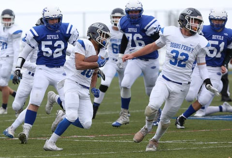 Dobbs Ferry defeated Ogdensburg 55-22 to win the state Class C semifinal game at Middletown High School Nov. 17, 2018.