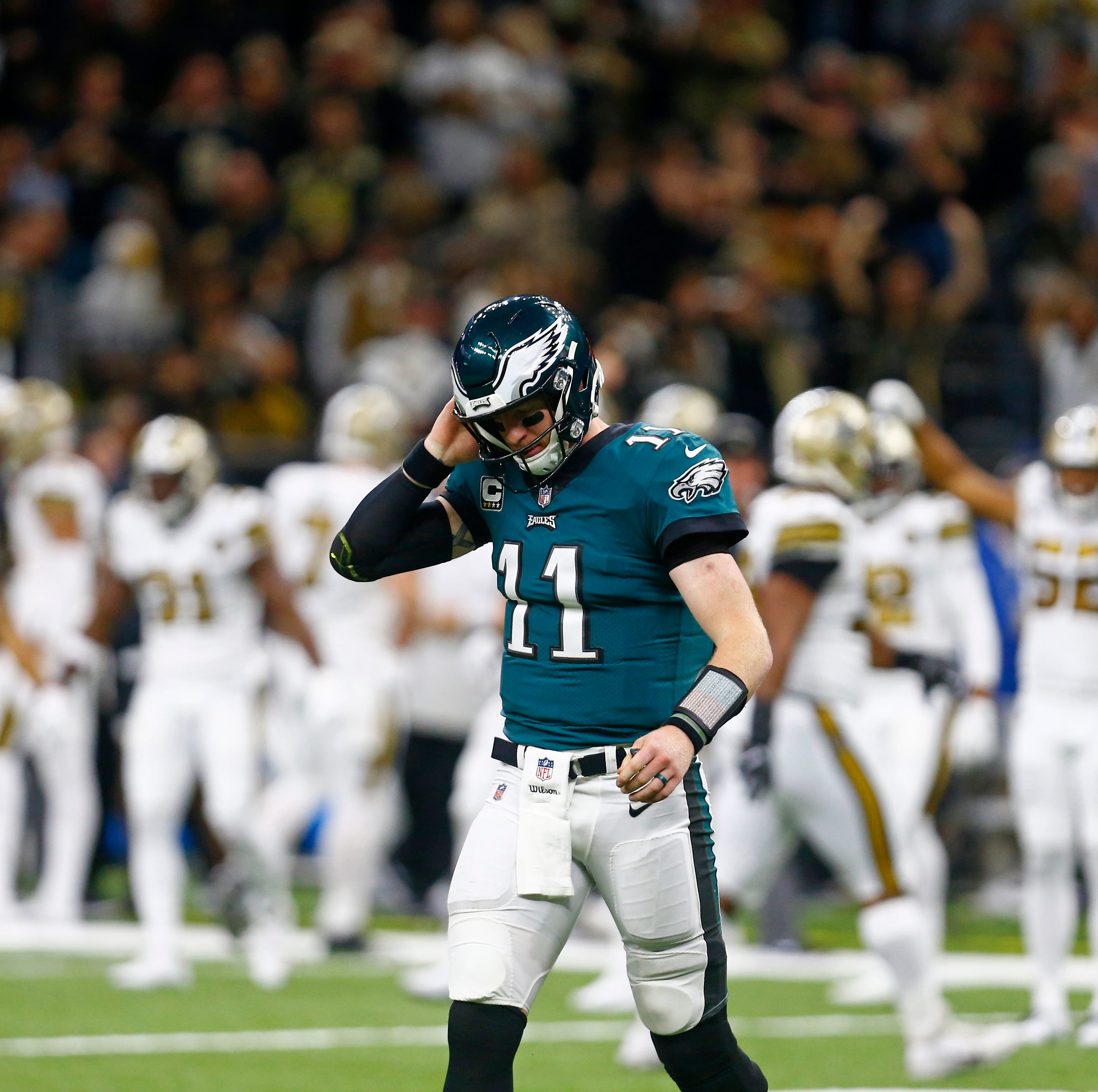 Eagles' season falls apart against Saints; lose 5 starters to injuries