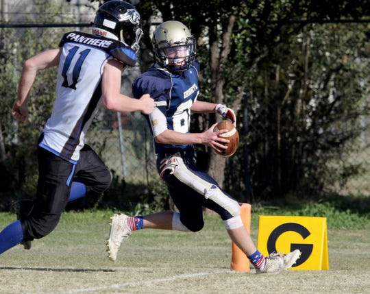 Notre Dame's Andrew Koch was a Super Six selection after leading the Knights to the area's lone six-man playoff victory.