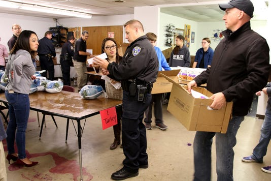 Wichita Falls Police Officers Association Thanksgiving Baskets