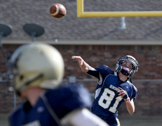 Notre Dame's Andrew Koch and the Knights will try to defend their district title in 2019.