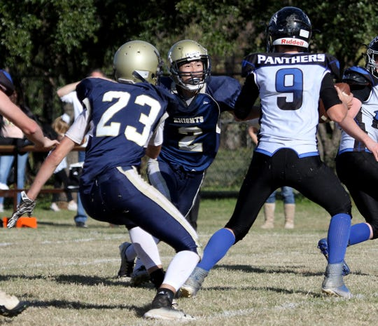 Notre Dame's Tony Shen (2) and Bill Ozier (23) lead a Knights' defense that has played well in recent weeks.