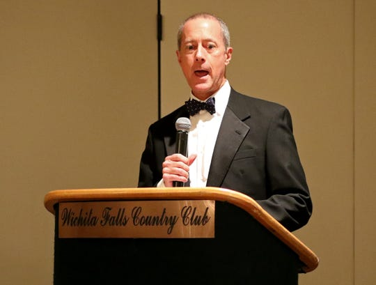 Mac Thornberry speaks at the Wichita Falls Military Ball Saturday, Nov. 17, 2018, at the Wichita Falls Country Club.