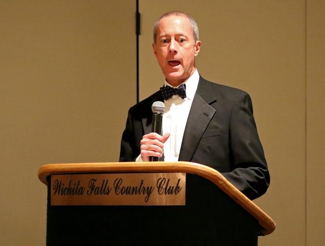 Mac Thornberry speaks at the Wichita Falls Military Ball Saturday, Nov. 17, 2018, at the Wichita Falls Country Club.