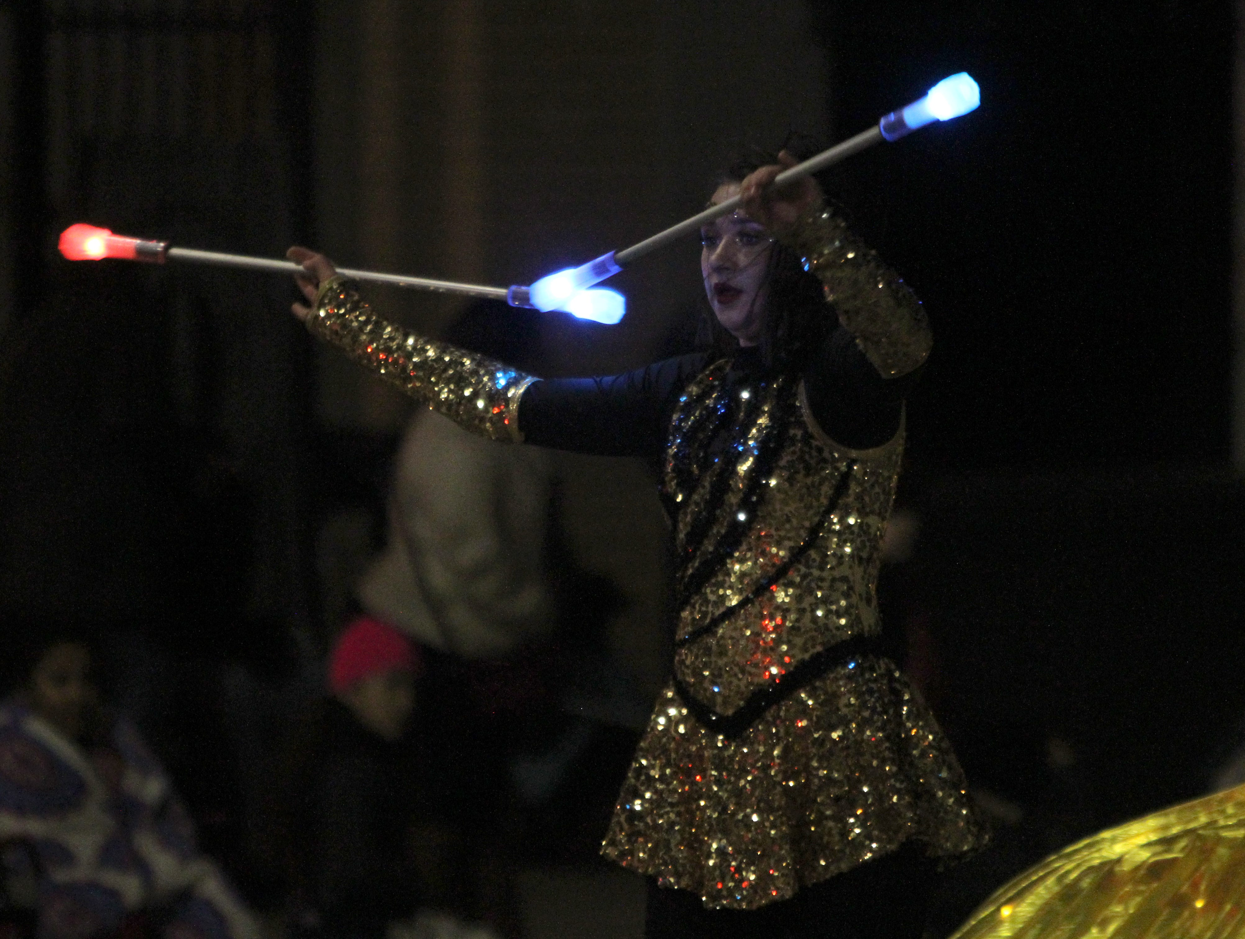 Wichitans take part in the Wichita Falls City Lights Parade Saturday, Nov. 17, 2018, downtown.