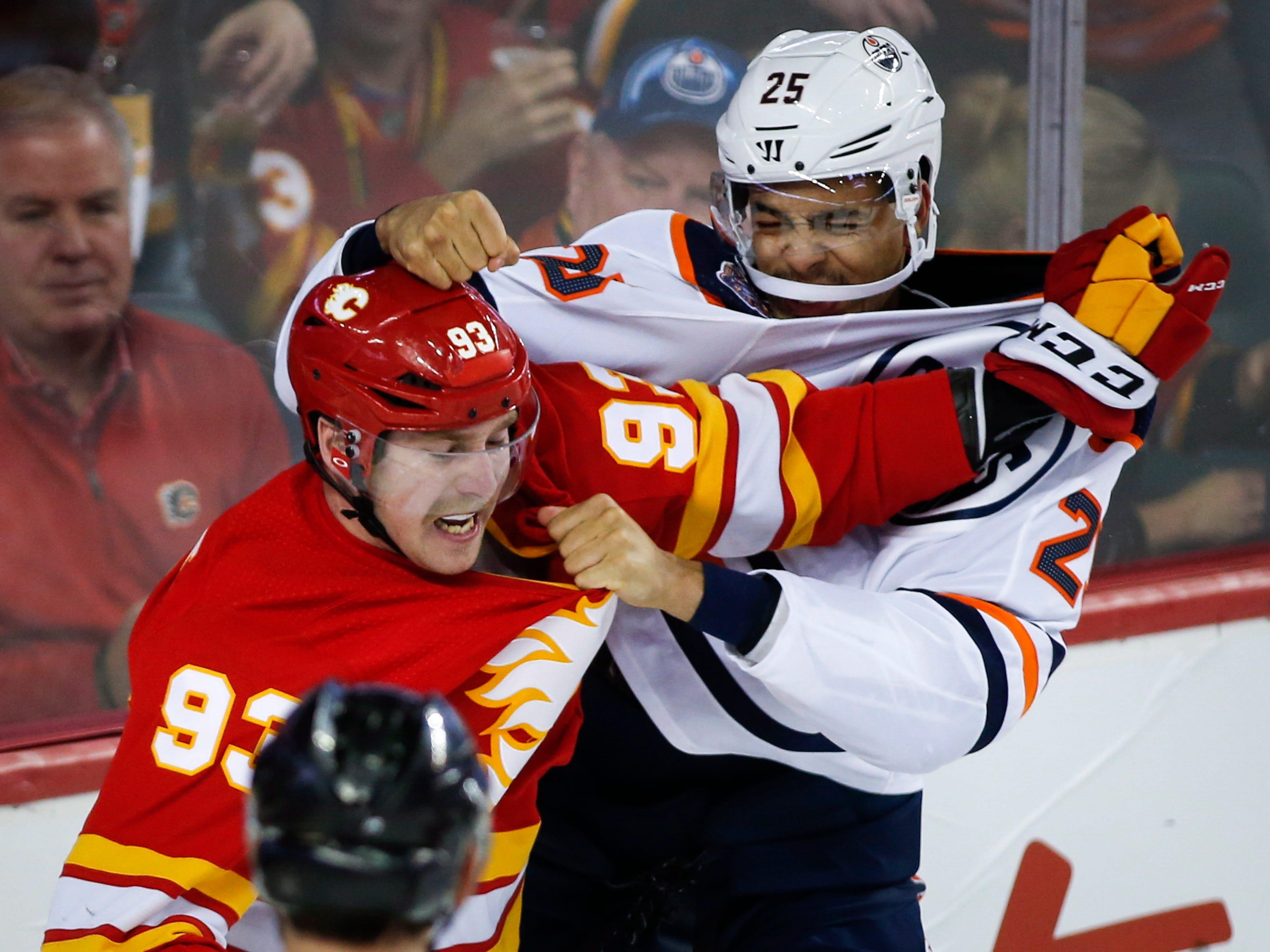 Nov. 17: Edmonton Oilers' Darnell Nurse vs. Calgary Flames' Sam Bennett.