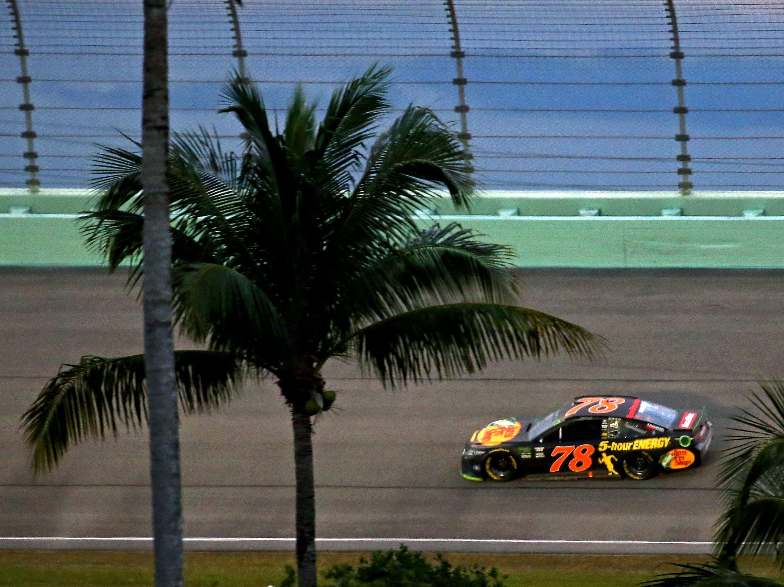 Martin Truex Jr. (78) during the Ford EcoBoost 400 at Homestead-Miami Speedway.