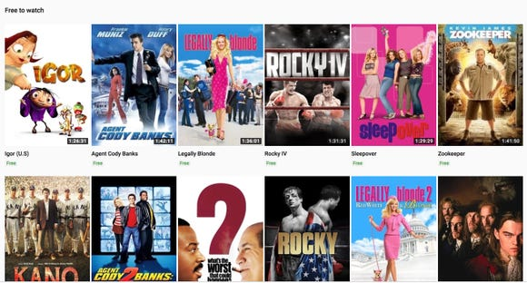 YouTube quietly adds 100 ad-supported movies for free viewing