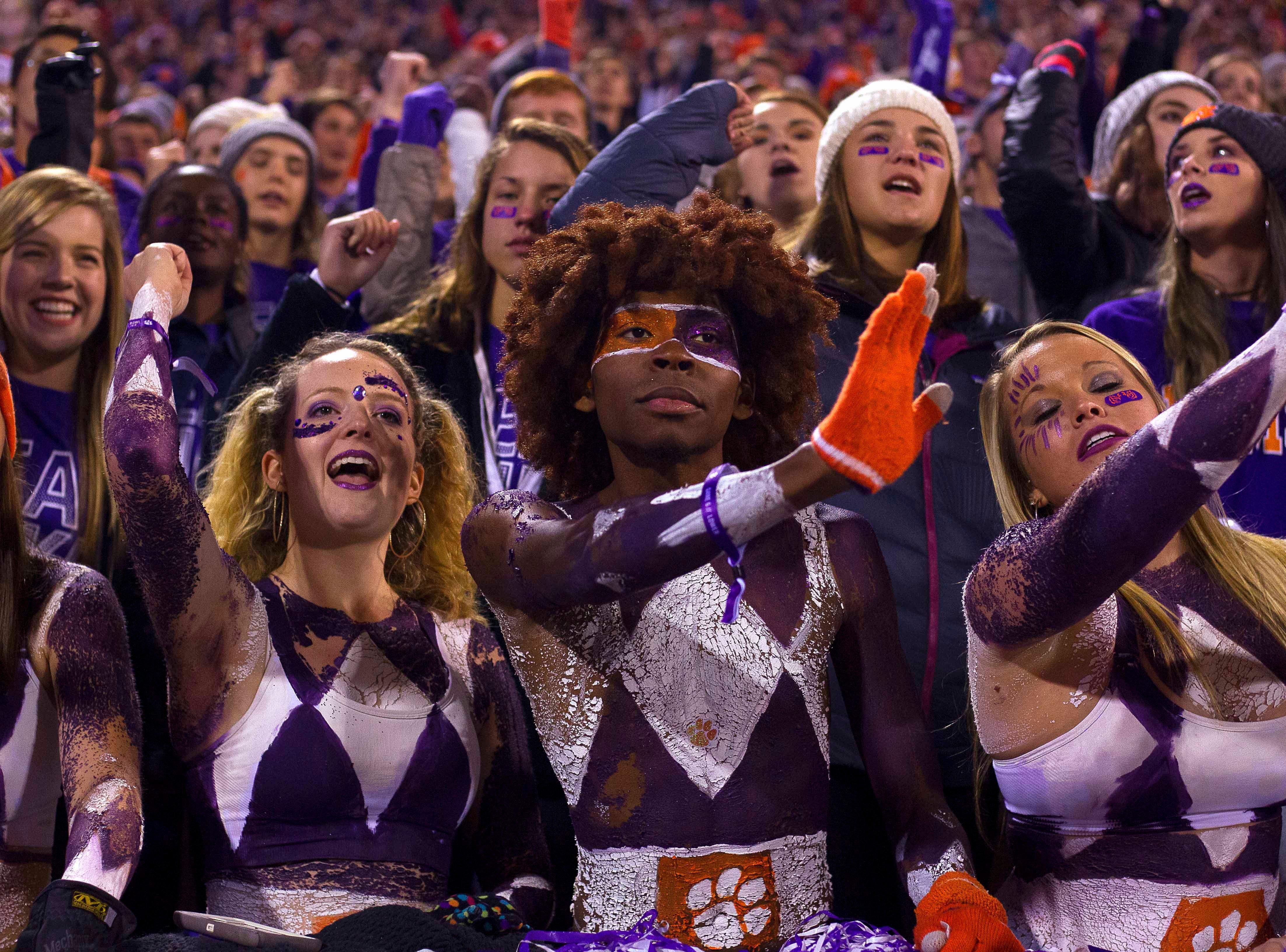 Week 12: Clemson Tigers fans during the second half against the Duke Blue Devils at Clemson Memorial Stadium.