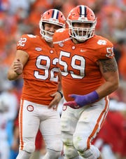 Ooffensive lineman Gage Cervenka (59) has made four starts in ACC games. In that span, the Tigers have allowed one sack.