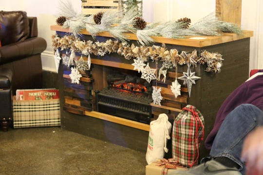 Hang out at the fireplace lounge at the Asbury Park Holiday Bazaar.