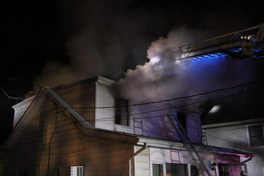A fire ripped through a Leonardo home on Nov. 18, 2018.