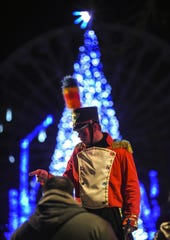 Six Flags' Holiday in the Park festivities in Jackson on Nov. 18, 2018.