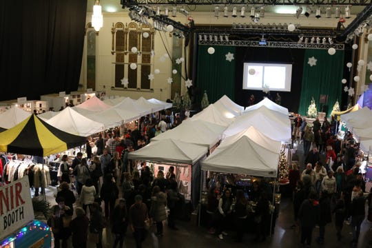The Asbury Park Holiday Bazaar takes place in the Grand Arcade between Convention Hall and the Paramount Theatre on the boardwalk.