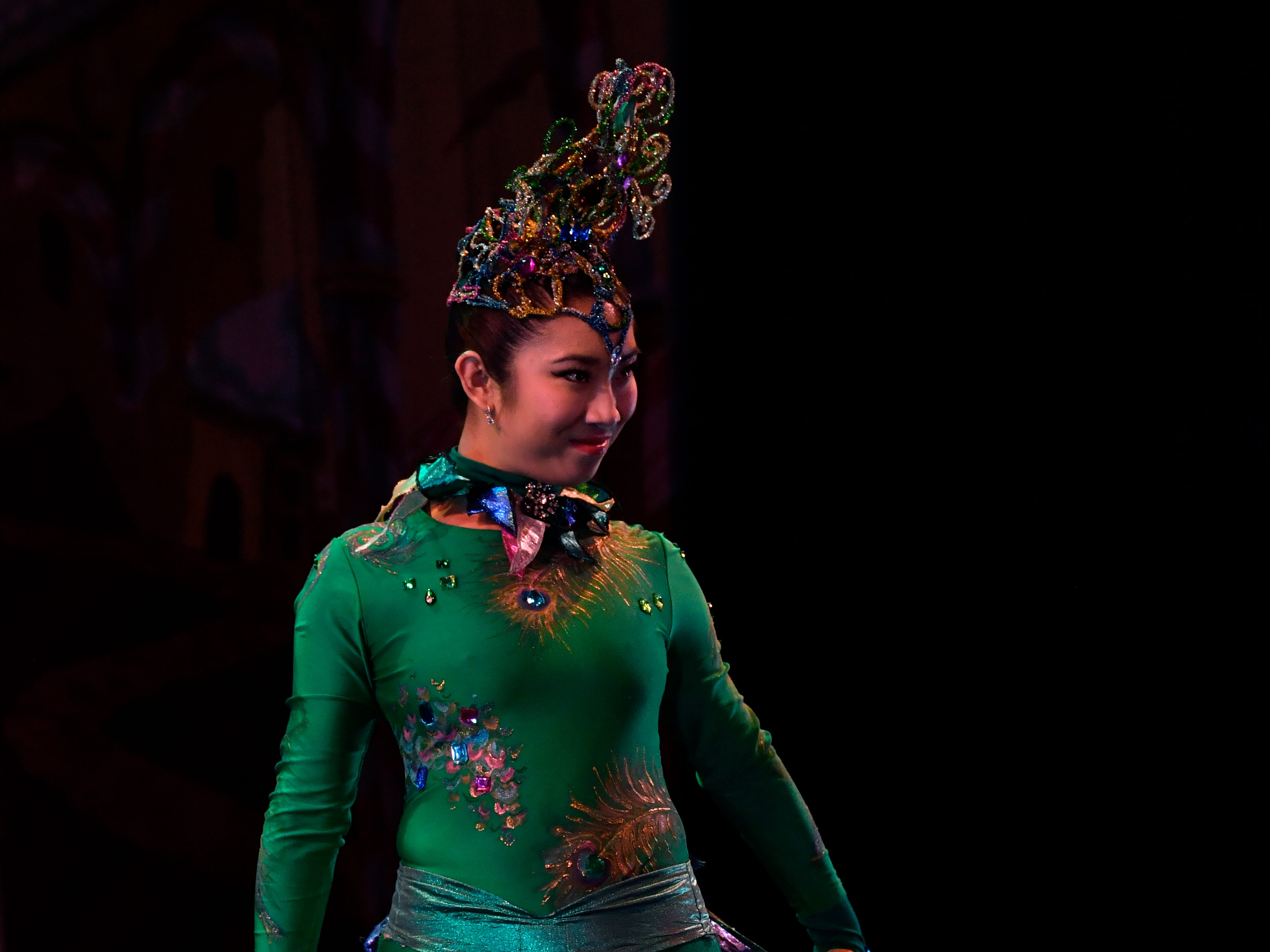 Maya Millar performs as the peacock during rehearsal Nov. 14, 2018 for The Nutcracker. This was the 31st year for the Abilene Ballet Theatre production, held at the Paramount Theatre.