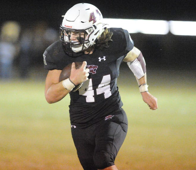 Hawley running back Colton Marshall carries the ball against Stamford.