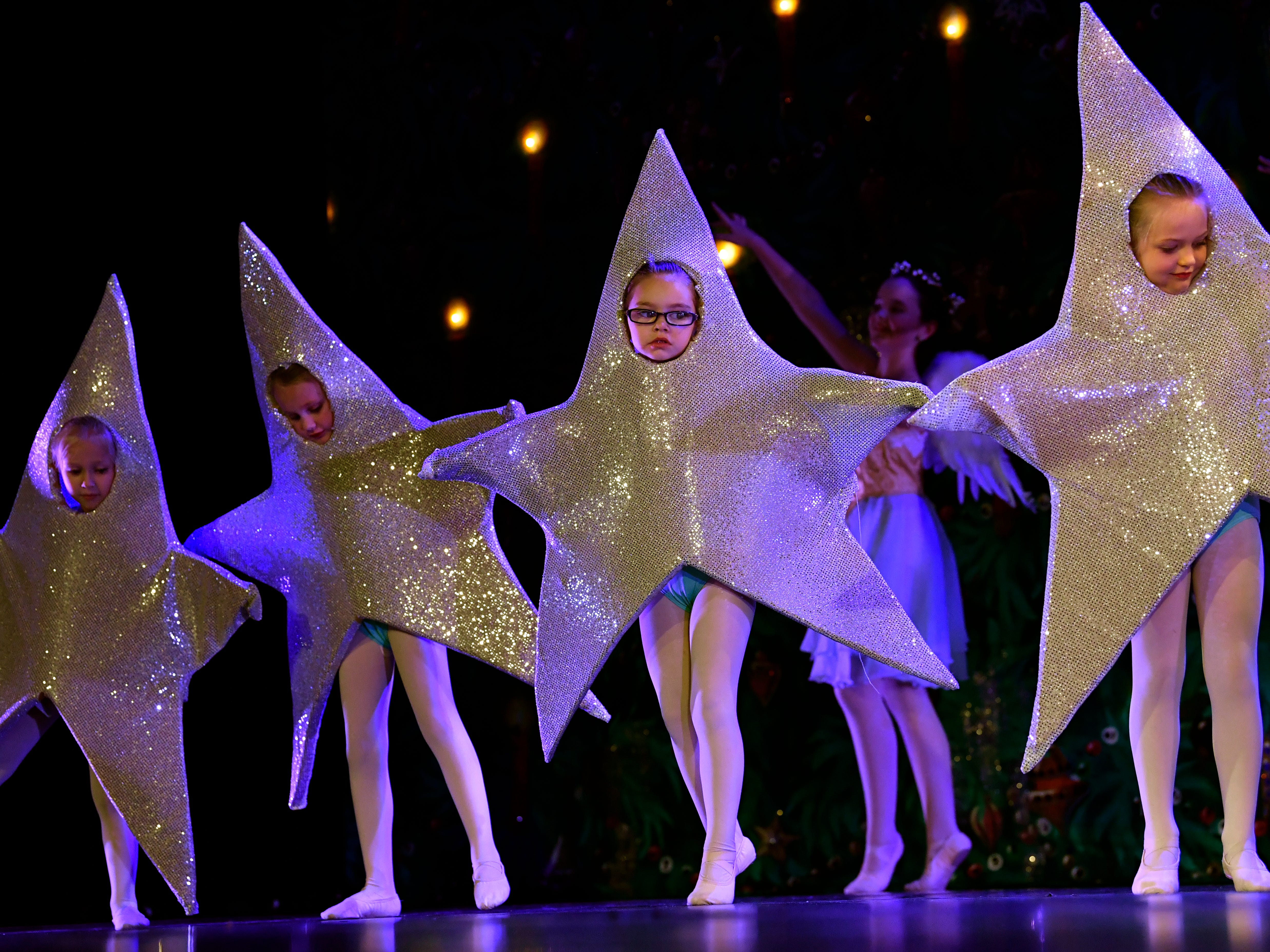 Twinkling Stars dance during rehearsal for The Nutcracker Nov. 13, 2018. This was the 31st year for the Abilene Ballet Theatre production, held at the Paramount Theatre.