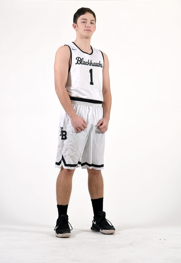 JT Laws is a senior on the North Buncombe basketball team.
