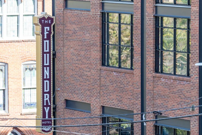 The Foundry Hotel, an 87-room boutique hotel featuring an 100-seat restaurant and an event space, opens in Asheville's The Block neighborhood this week. The project was expected to cost developers more than $30 million.