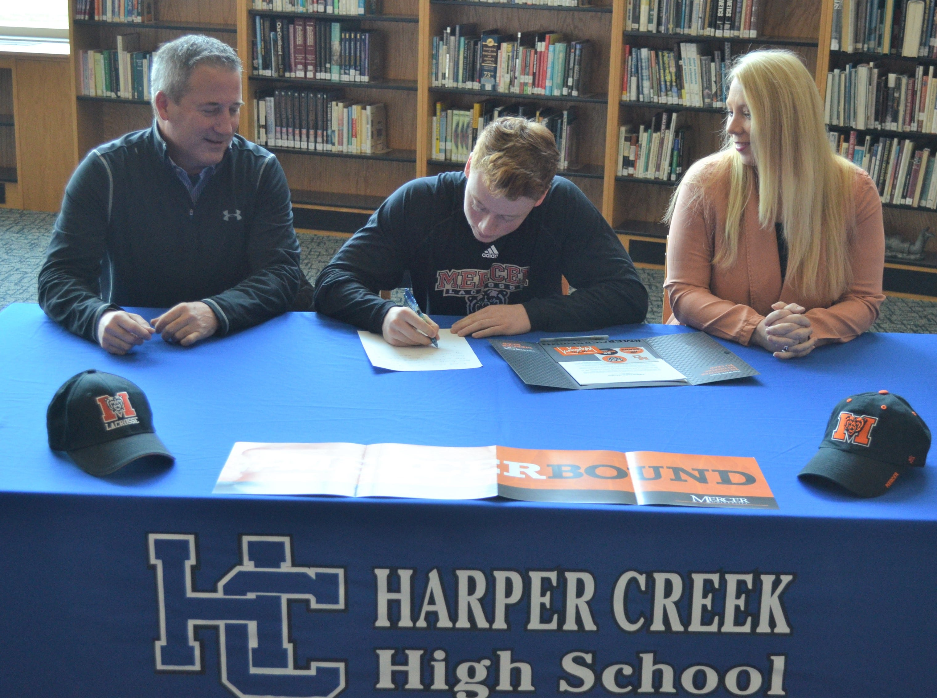Harper Creek's Matt O'Connor signs to play lacrosse at D-I school