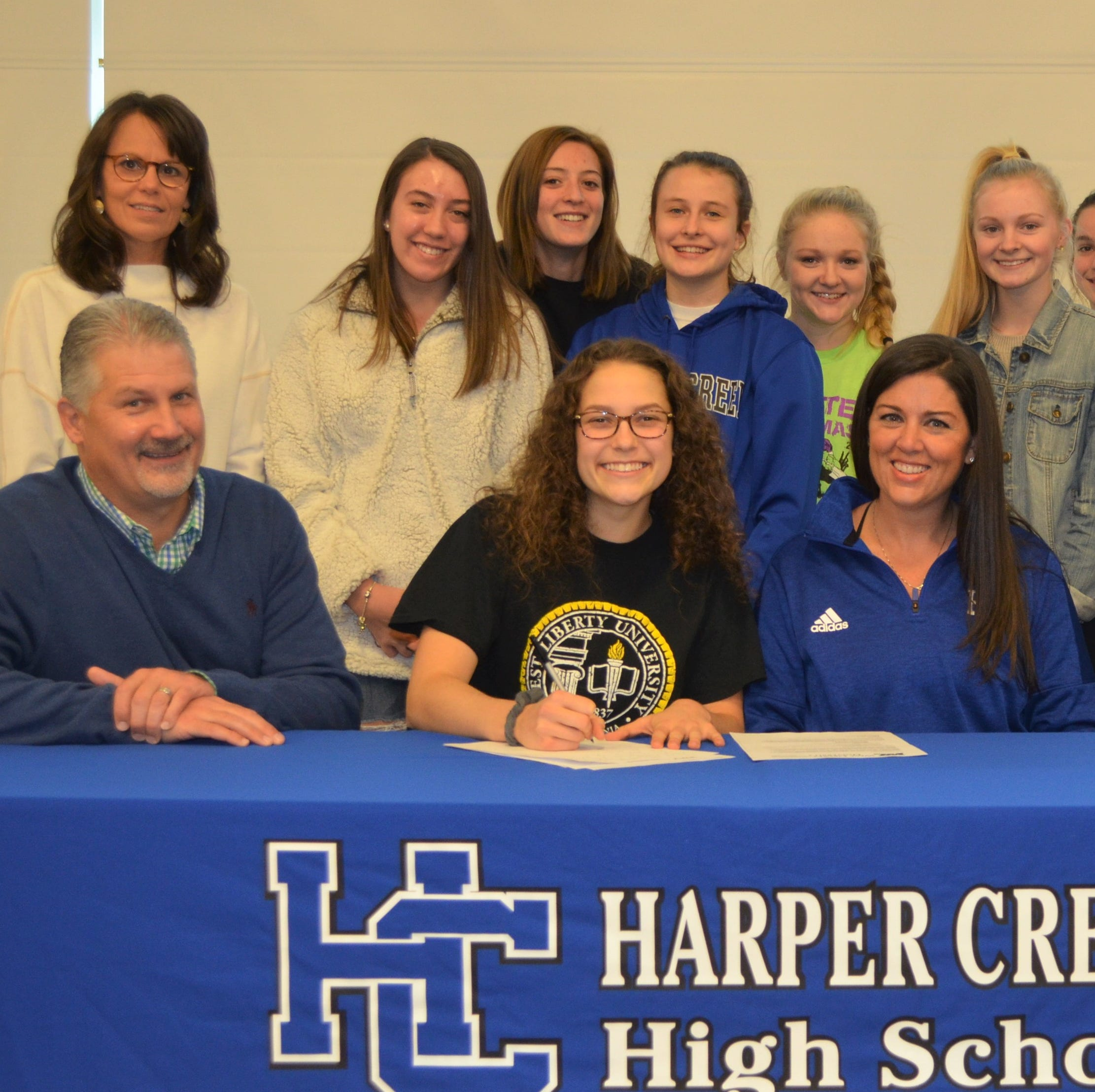 Harper Creek's Faith Hayes signs to play volleyball at West Liberty