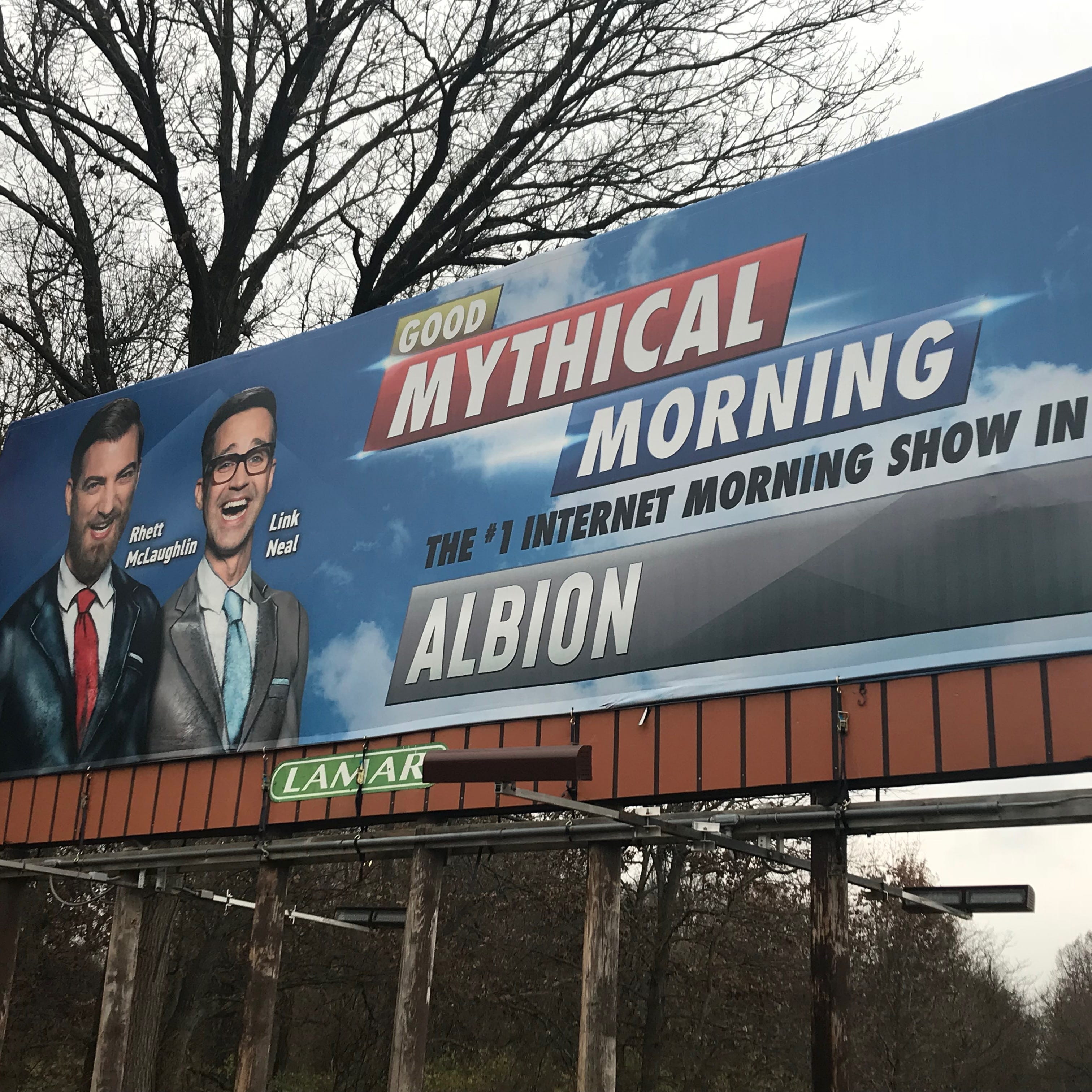 More than meets the eye: Shirtless YouTubers pop up on Albion billboard