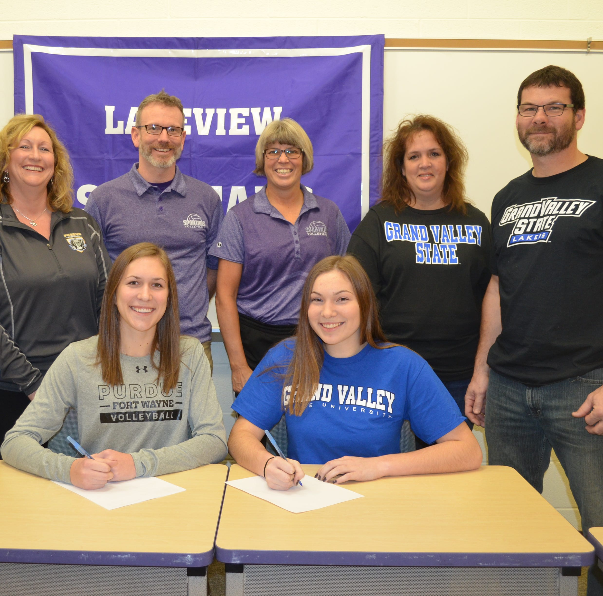 Lakeview's Sidney Schiller, Karlie Kucharczyk sign to play college volleyball