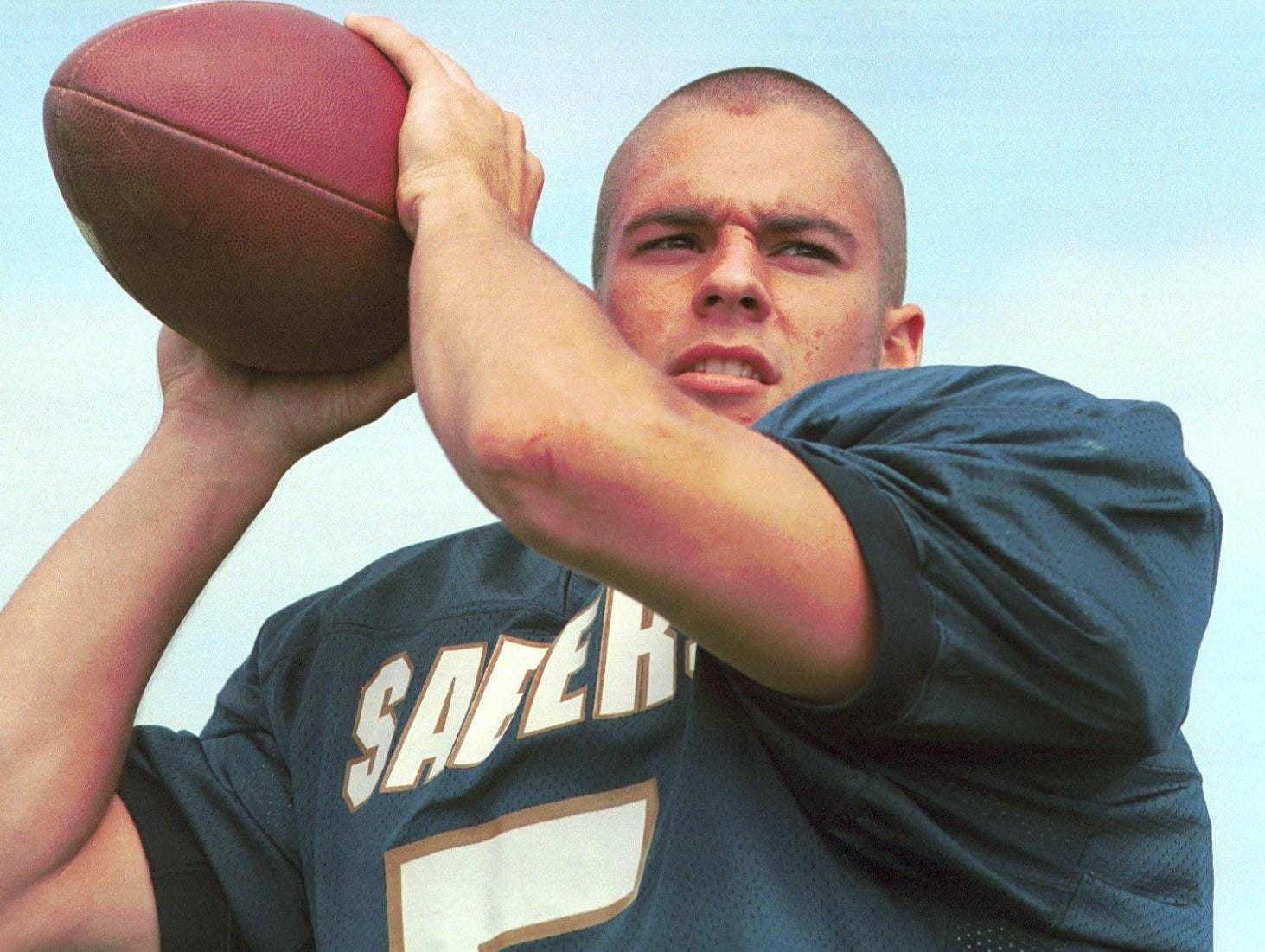 From 1998: Susquehanna Valley's Bill O'Neill readies to throw a ball during a recent practice.