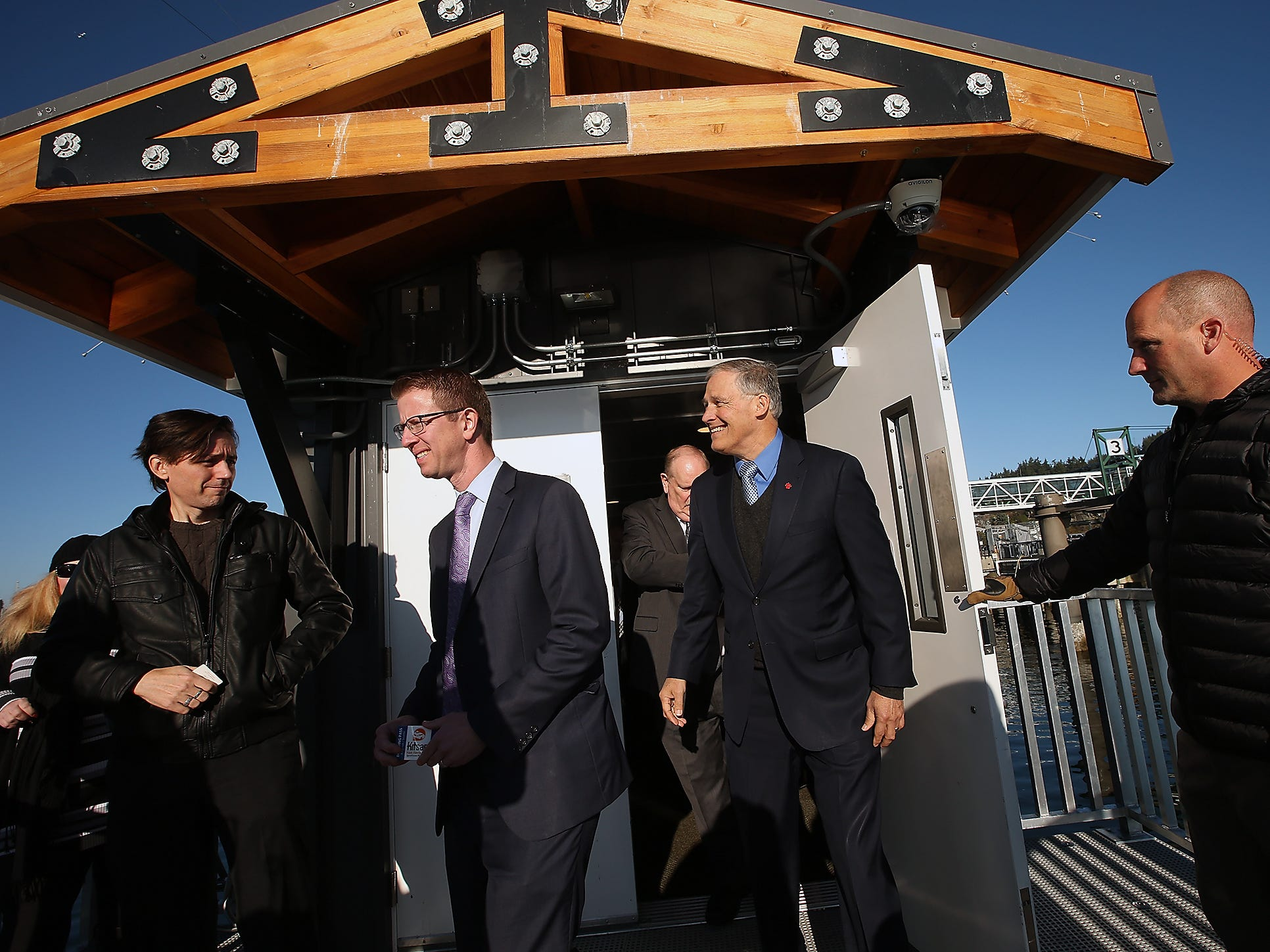 Grand Opening at the Port of Kingston for Kitsap Transit's new fast-ferry service between Kingston and Seattle on Monday, November 19, 2018.